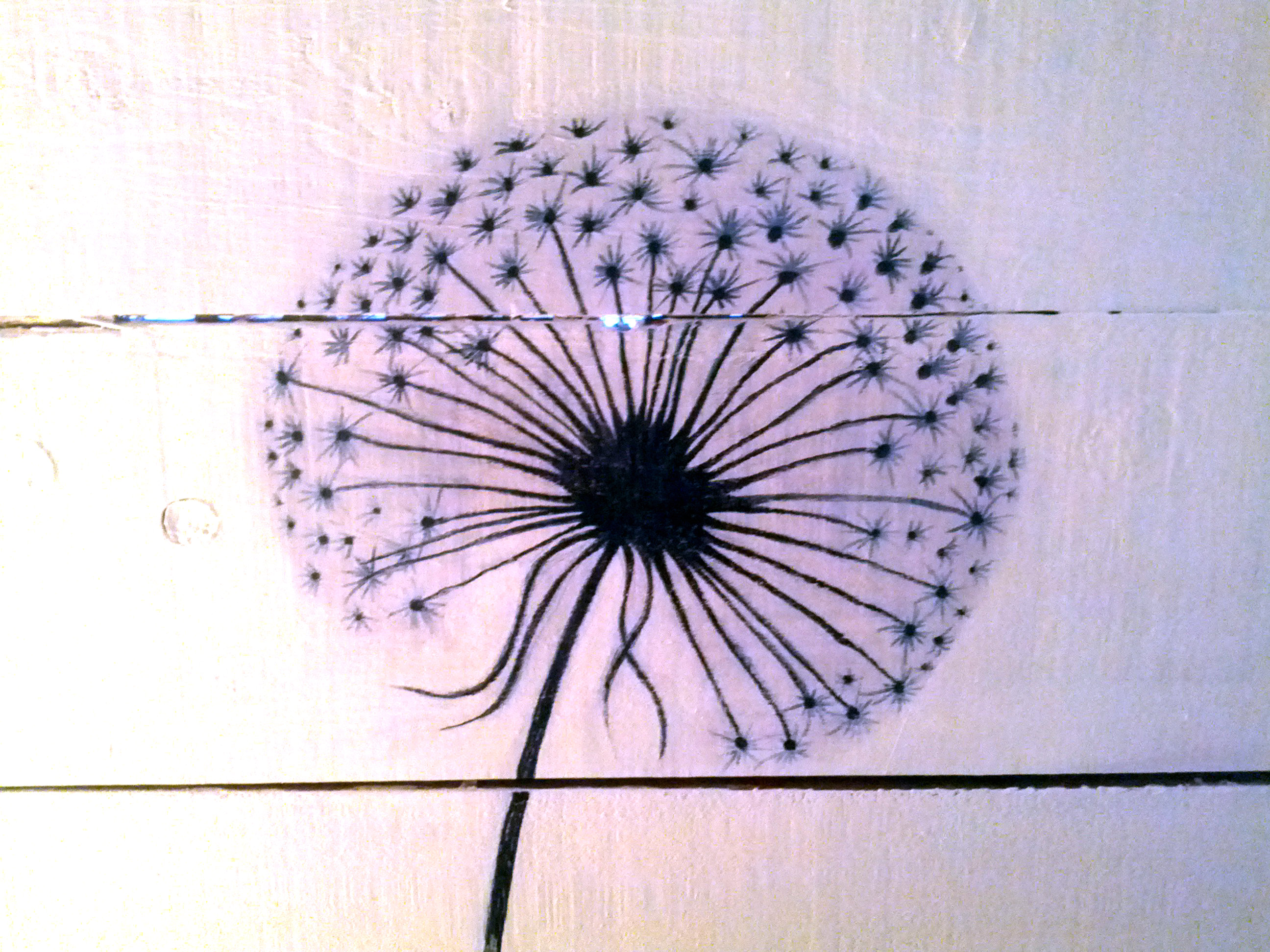 Dandelion Blowing Into Birds Drawing Dandelion decalBlowing Dandelion Birds